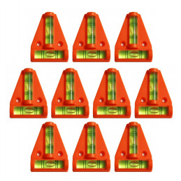 Conjunto de 10 niveles transversales con orificios para tornillos (naranja)  - 1