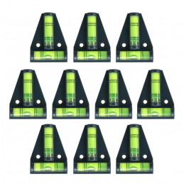 Set von 10 Wasserwaage mit Schraubenlöchern (schwarz)
