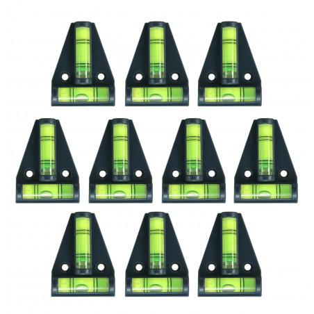 Conjunto de 10 níveis transversais com orifícios para parafusos (pretos)  - 1