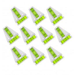 Conjunto de 10 niveles transversales con orificios para tornillos (blanco)  - 1