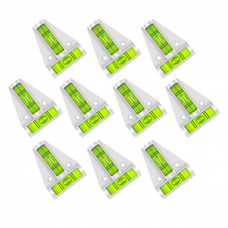 Set of 10 cross levels with screw holes (white/gray)