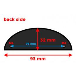 Set of 10 shell shaped handles, for furniture: black  - 2