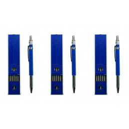 Juego de 3 lápices de carpintero (18 recargas en total)  - 1