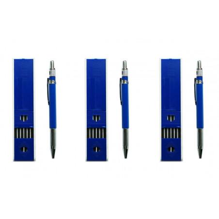 Set of 3 carpenters pencils (18 refills in total)