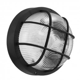 Runde Bullseye Lampe, Schwarz E27