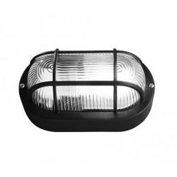 Bullseye (bulleye) lamp, zwart E27, industriële look, waterdicht  - 1