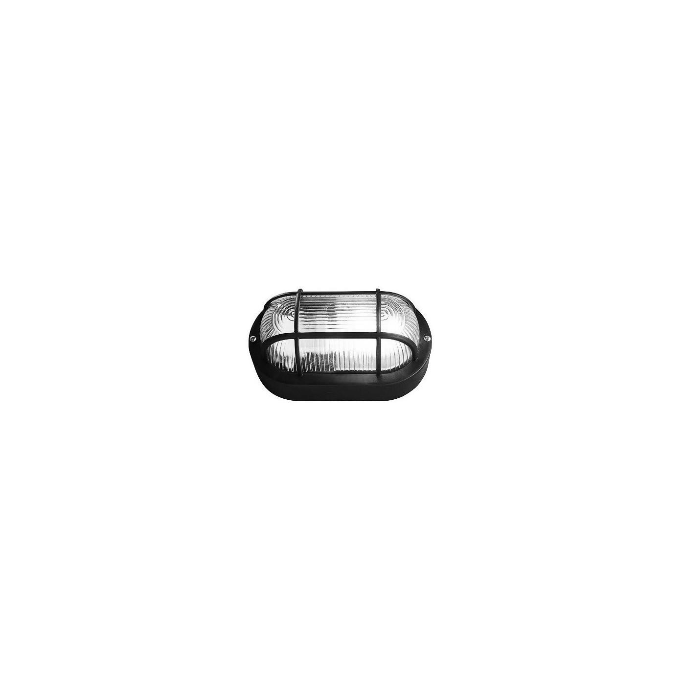 Lampada Bullseye (bulleye), E27 nera, aspetto industriale