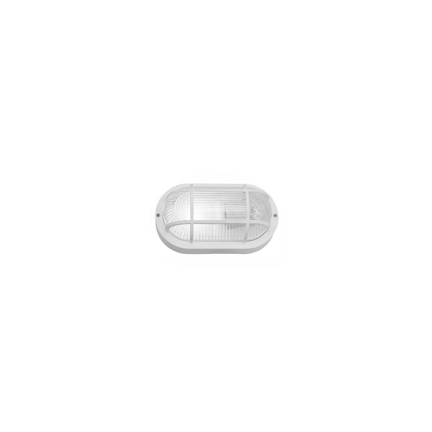 Bullseye (bulleye) lamp, witte E27, industriële look, waterdicht  - 1