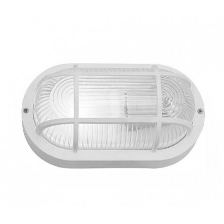 Lampe Bullseye (bulleye), blanc, E27, aspect industriel, étanche