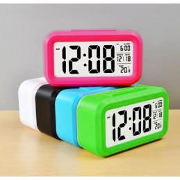 Moderne alarmklok/wekker in vrolijke kleur: wit  - 1
