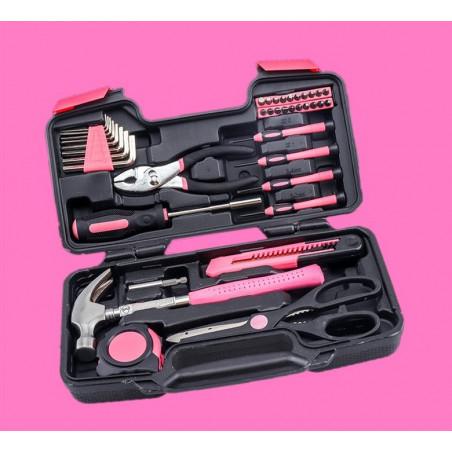 Boîte à outils pour dames au cas où (39 pièces)