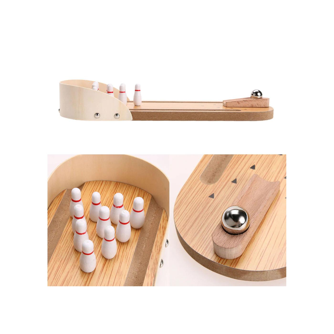 Mini desktop bowling game