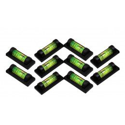 Set of 10 spirit levels with a black casing (rectangle)