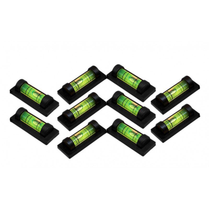 Set of 10 black spirit levels with a black casing  - 1