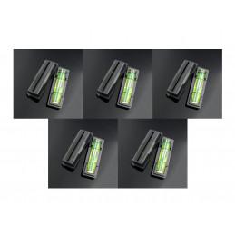 Conjunto de 10 níveis de bolha preta com uma caixa preta  - 1