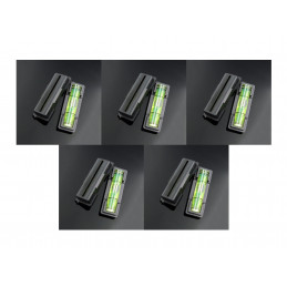 Set of 10 black spirit levels with a black casing