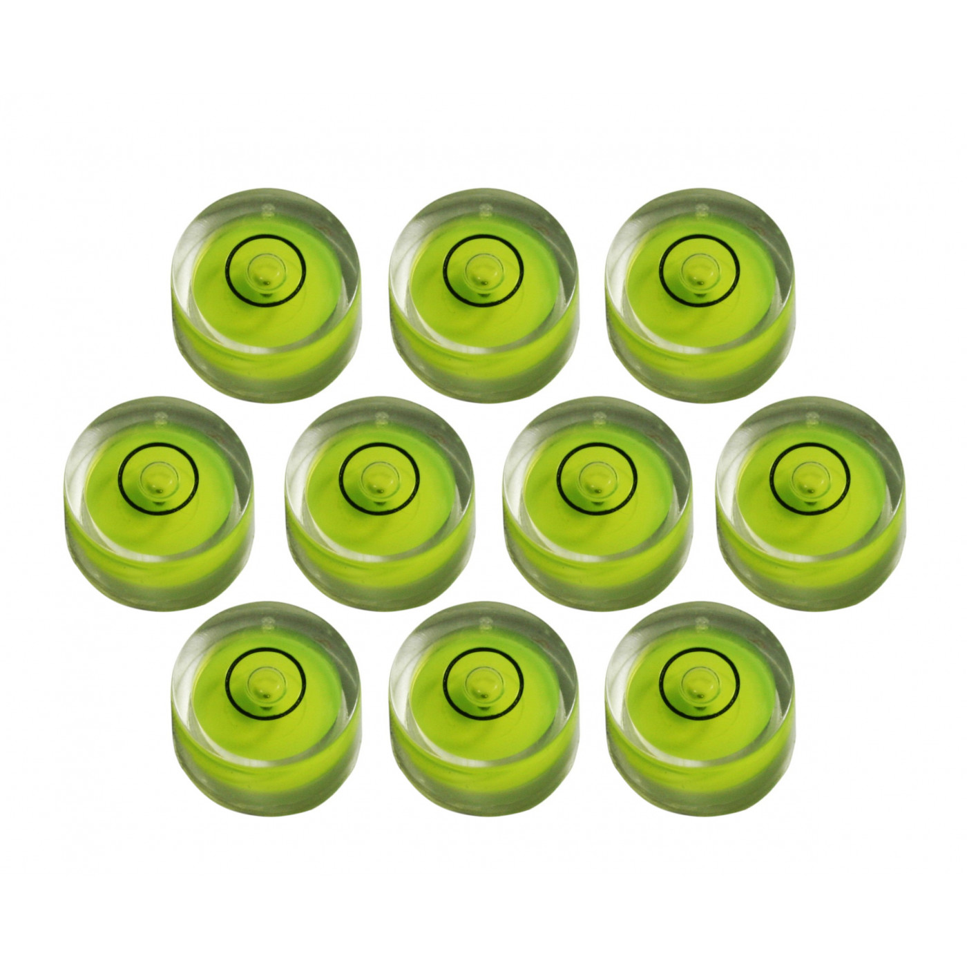 Set of 10 small round bubble levels size 1 (8x5.5 mm)  - 1