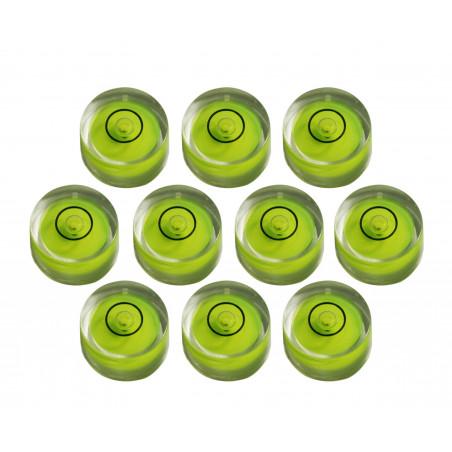 Conjunto de 10 níveis redondos pequenos de bolha tamanho 1 (8x5,5 mm)  - 1