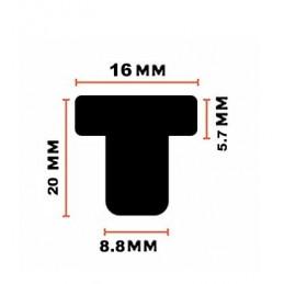 Set von 90 pvc Puffern, Türdämpfern (Typ 3, transparent, 9 mm)