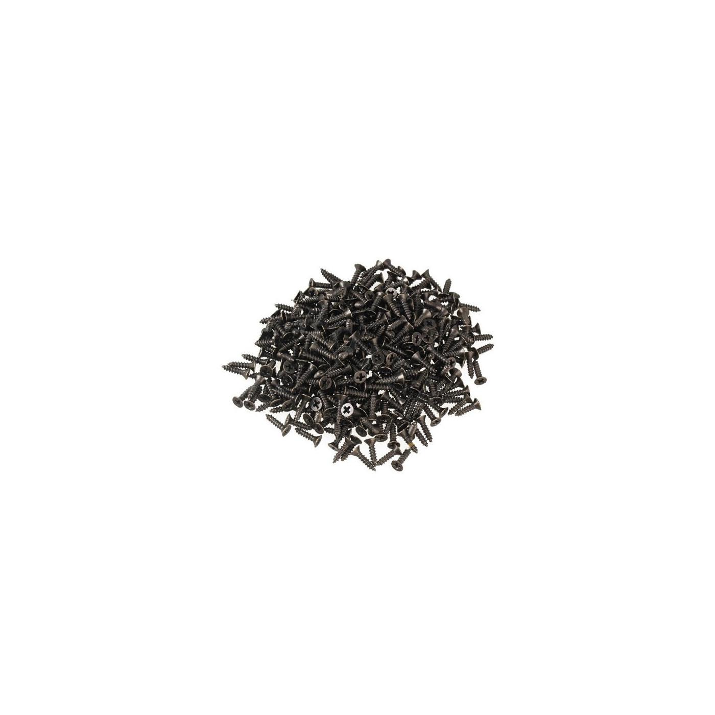 Zestaw 300 mini śrub (2,5 x 8 mm, wpuszczany, kolor brązowy)