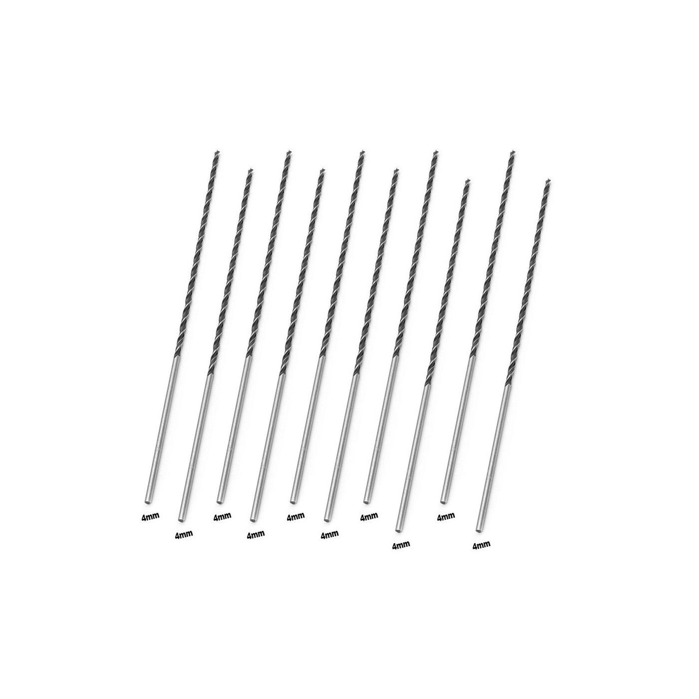 Juego de 10 brocas de madera extra largas (4x300 mm)  - 1