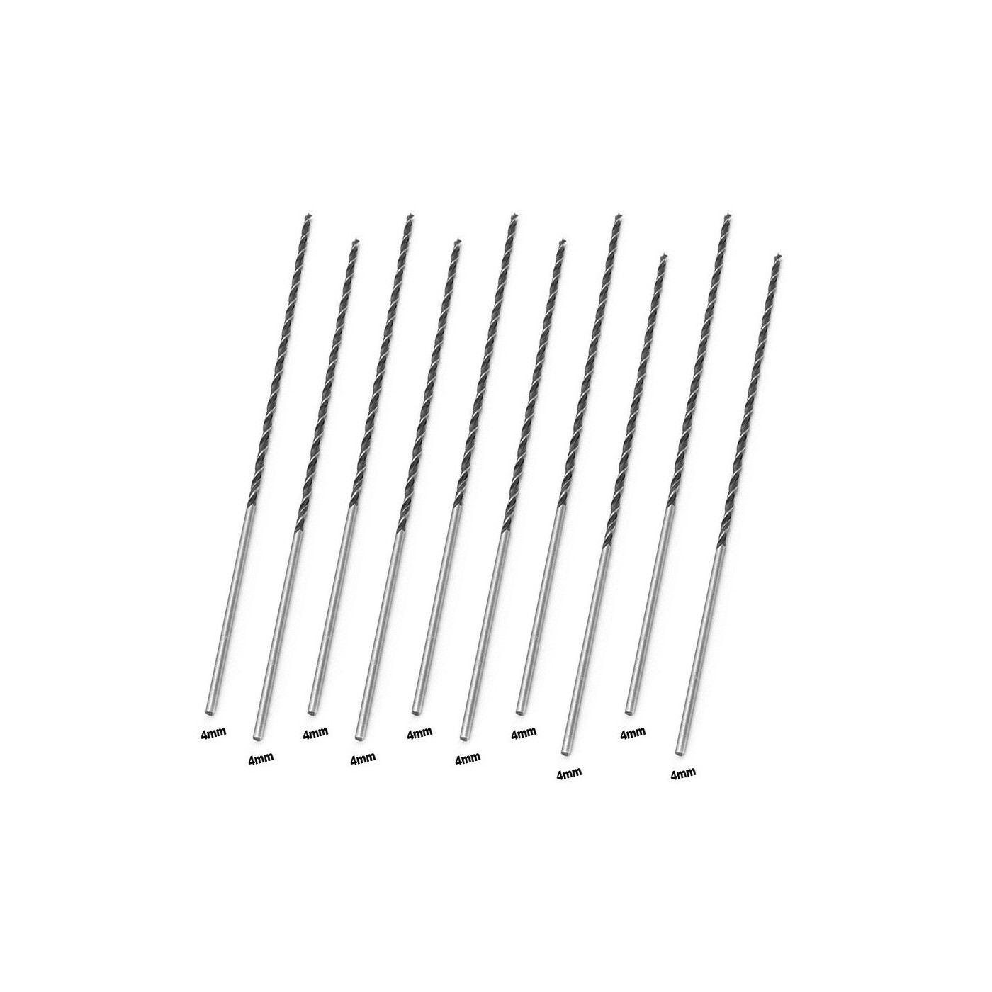Set van 10 extra lange houtboren (4x300 mm)