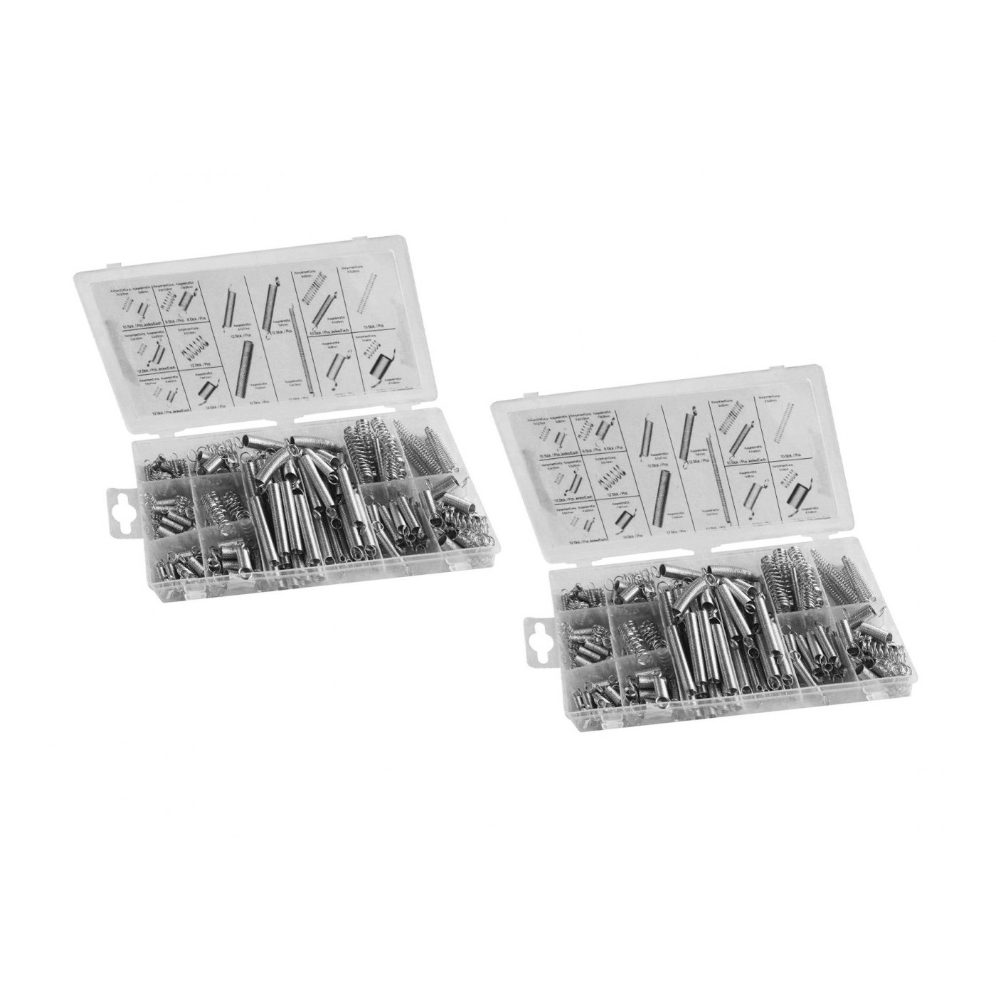 Ensemble de 400 ressorts de tension et de compression (2 boîtes)