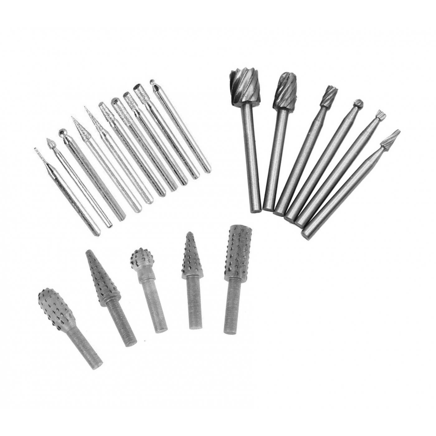 Set milling cutters & graters, 21 pieces