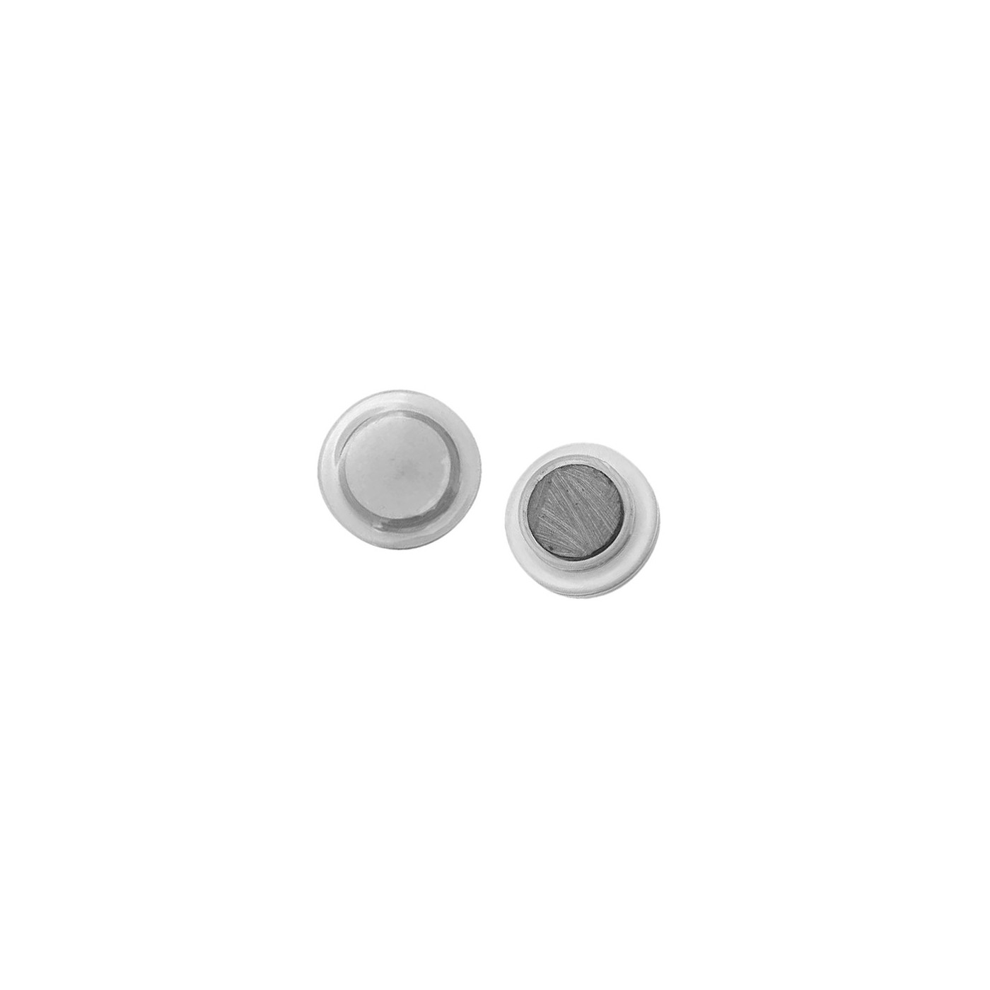 Set of 32 white board magnets (3 cm, transparent)