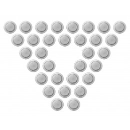 Set of 48 white board magnets (2 cm, transparent)