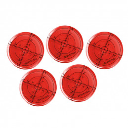 Set van 5 ronde waterpassen (66x11 mm, rood)  - 1