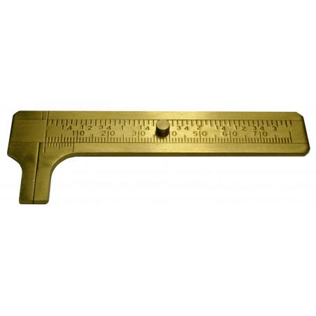 Mini schuifmaat 80 mm messing