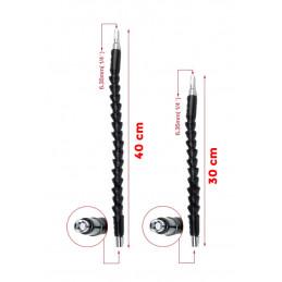 Zestaw przedłużek z elastycznymi końcówkami sześciokątnymi (30 + 40 cm)  - 1