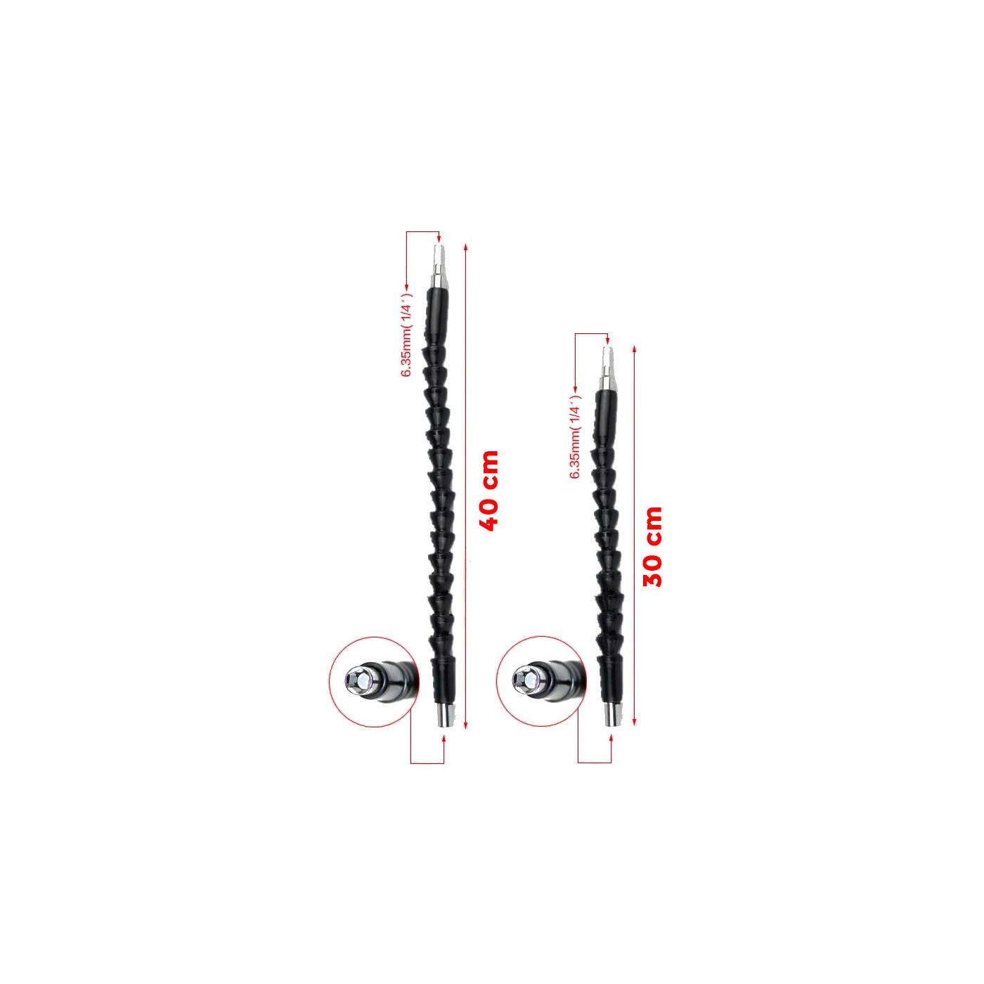 Flexible hex bits extension set (30+40 cm)