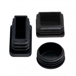Set van 48 stoelpootdoppen (20x60 mm, zwart, inslag)  - 4