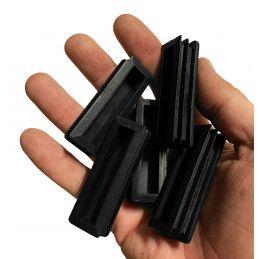 Set van 48 stoelpootdoppen (20x60 mm, zwart, inslag)  - 2
