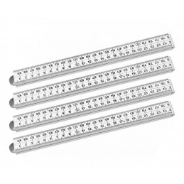 Set of 4 foldable rulers (fiber, white, 1 meter)