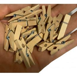 Ensemble de 100 petites épingles à linge (3,5 cm)