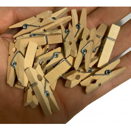 Set von 100 kleinen Wäscheklammern (3,5 cm)