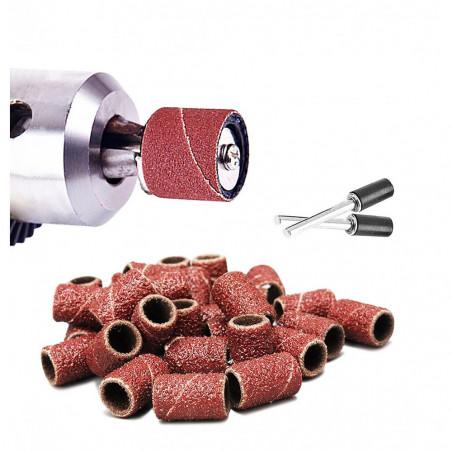 Set von 60 Schleifbändern (15 mm, Korn 80-600 mit 2 adapters)  - 1