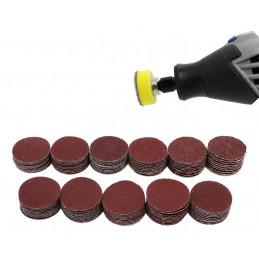 Zestaw talerza szlifierskiego 25 mm, 99 tarcz, ziarnistość 40-7000, 2 adaptery  - 1