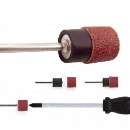 Conjunto de 60 bandas de lijado de 8 mm, grano 80-600 con 2 varillas  - 2
