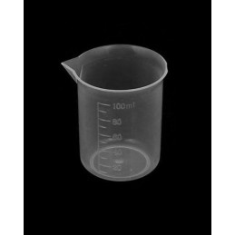 Set van 30 kleine maatbekers (100 ml, transparant, PP)  - 1