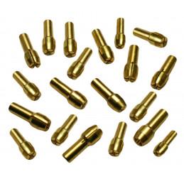 Conjunto completo de 20 mandris de pinça (4,8 mm), para ferramentas do tipo dremel  - 1