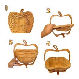 Corbeille à fruits en bois déco (pliable)  - 3