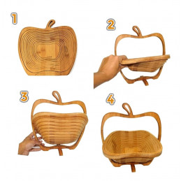 Original Obstschale aus Holz (klappbar)  - 3