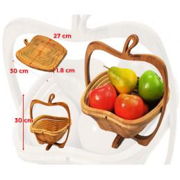 Corbeille à fruits en bois déco (pliable)  - 2