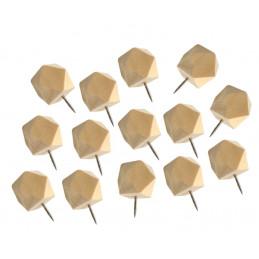 Conjunto de 28 alfinetes de polígono de madeira em caixas  - 2