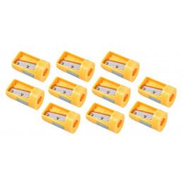 Lot de 10 taille-crayons de menuisier, jaune
