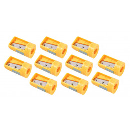 Set of 10 carpenters pencil sharpeners, yellow  - 1